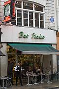 Bar Italia on Frith Street, Soho on 7th October 2015 In London, United Kingdom.
