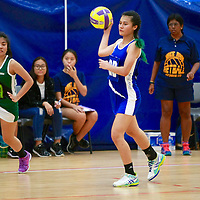 NP (blue) defeated RP 46-33 to remain undefeated in the POL-ITE Netball Championship. (Photo © Les Tan/Red Sports)