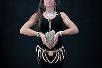 Energy grounding totem woman.