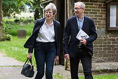 2019-05-26 Theresa May attends church