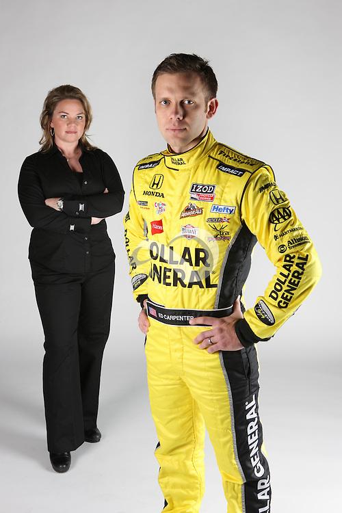 Sarah Fisher and Ed Carpenter of Sarah Fisher Racing