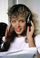 Australian singer and actress Kylie Minogue seen during a visit to London in 1988.