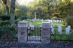 The Ploegsteert Wood Military Cemetery in Belgium where Captain Charles Carus Maud of the 1st Battalion Somerset Light Infantry is buried.