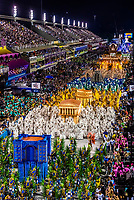 Floats in the Carnaval parade of Unidos da Tijuca samba school in the Sambadrome, Rio de Janeiro, Brazil.