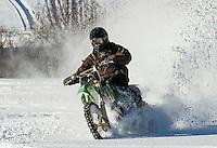 Motorcycles on Saltmarsh Pond in Winter.  ©2016 Karen Bobotas Photographer