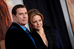 """File photo - """"John Travolta and Kelly Preston attend the premiere of """"""""The Last Song"""""""" held at the Arclight Cinemas in Hollywood. Los Angeles, March 25, 2010. (Pictured: John Travolta, Kelly Preston). Kelly Preston, the actress married to John Travolta, has died after a private battle with breast cancer, aged 57. The actress had been battling against breast cancer for two years, with a family representative confirming news of her passing to People today. Photo by Lionel Hahn/ABACAPRESS.COM"""""""