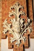 Plaster cherub figure Cistercian Monastery of Saint Mary of Valldigna, Simat de la Valldigna, Valencia province, Spain