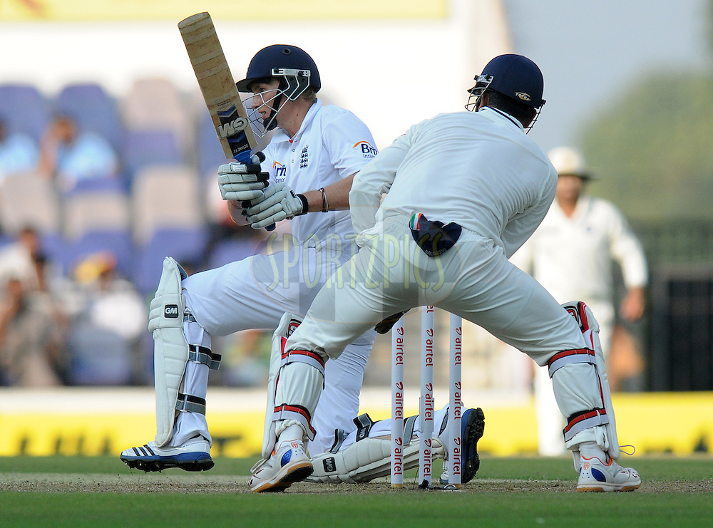 Joe Root of England bats during day one of the 4th Airtel Test Match between India and England held at VCA ground in Nagpur on the 13th December 2012..Photo by  Pal Pillai/BCCI/SPORTZPICS .