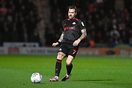 Chris Maguire of Sunderland (7) passes the ball forward during the EFL Sky Bet League 1 match between Doncaster Rovers and Sunderland at the Keepmoat Stadium, Doncaster, England on 23 October 2018.