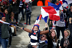 Young fans show their support prior to the match