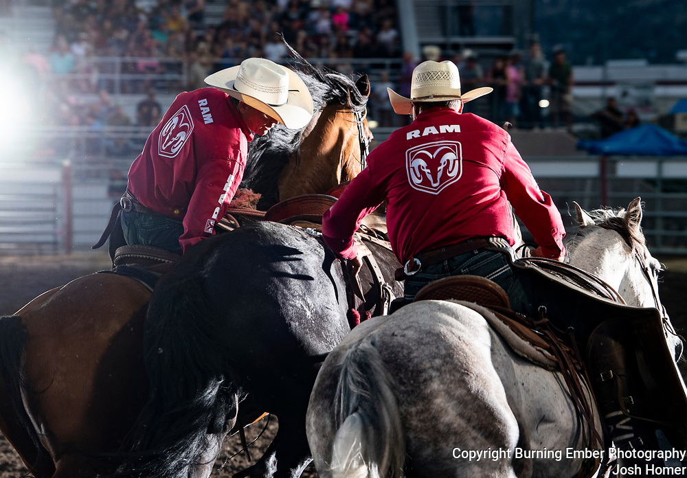 David Lewis and Andy Bolich at the Last Chance Stampede 1st perf 2021.  Photo by Josh Homer.  All rights reserved and copyrighted by Burning Ember Photography.  Photo Credit must be given on all uses.