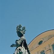 Statue in downtown Stockholm, Sweden