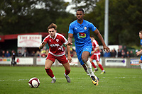 Nyal Bell. Colne FC 0-2 Stockport County FC. Pre-season friendly. 5.9.20