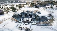 ZANDVOORT - Winter 2021.  Clubhuis De Kennemer G&CC in de sneeuw.   COPYRIGHT  KOEN SUYK