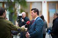 DEU, Deutschland, Germany, Berlin, 15.03.2018: Dr. Zekeriya Altug, Vorstand DITIB und Sprecher des Koordinationsrates der Muslime in Deutschland (KRM), bei einem Interview in der Bundespressekonferenz zu den Anschlägen auf Moscheen in Deutschland.