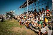 2015/03/06 – Km 215 between Rosário and Buenos Aires, Argentina: Visitors to the Expo Agro fair are seen during the presentation of a new agriculture machinery. (Eduardo Leal)