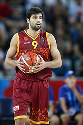 Damjan Stojanovski of Macedonia during basketball match between Croatia vs Macedonia at Day 4 in Group C of FIBA Europe Eurobasket 2015, on September 8, 2015, in Arena Zagreb, Croatia. Photo by Matic Klansek Velej / Sportida