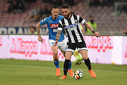 April 18, 2018 - Naples, Naples, Italy - Francesco Zampano of Udinese Calcio during the Serie A TIM match between SSC Napoli and Udinese Calcio at Stadio San Paolo Naples Italy on 18 April 2018. (Credit Image: © Franco Romano/NurPhoto via ZUMA Press)