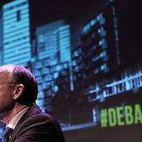 Nederland, Amsterdam , 3 februari 2014.<br /> Top ING en SNS voor het eerst in debat in de Balie met critici over toekomst bankwezen.<br /> Op de foto: Wilfred Nagel, CRO en lid raad van bestuur van ING<br /> Foto:Jean-Pierre Jans