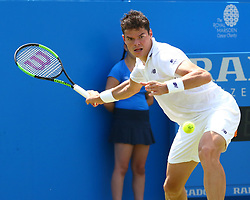 June 20, 2017 - London, United Kingdom - Milos Raonic (CAN) against Thomas Kokkinakis  (AUS)  during Round One match on the second day of the ATP Aegon Championships at the Queen's Club in west London on June 20, 2017  (Credit Image: © Kieran Galvin/NurPhoto via ZUMA Press)