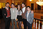 Tom Bateman, Rory Fleck-Byrne, Sonya Cassidy, James Norton and Joseph Drake , Party following the Theatre Royal press night performance of The Lion in Winter , The Institute of Directors. London. 15 November 2011. <br /> <br />  , -DO NOT ARCHIVE-© Copyright Photograph by Dafydd Jones. 248 Clapham Rd. London SW9 0PZ. Tel 0207 820 0771. www.dafjones.com.