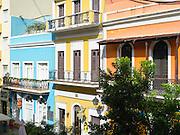 Colorful building facades, Old San Juan/Viejo San Juan.