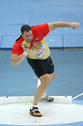 Andy Dittmar of Germany in the Shot Put men Qualification at the 2nd day of  European Athletics Indoor Championships Torino 2009 (6th - 8th March), at Oval Lingotto Stadium,  Torino, Italy, on March 6, 2009. (Photo by Vid Ponikvar / Sportida)
