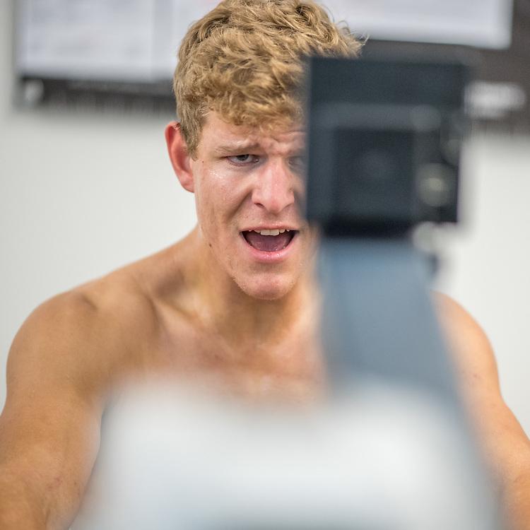 Mark Taylor, Oamaru Rowing Club<br /> <br /> SRPC squad ergometer training at HPSNZ Apollo Sports Centre, Christchurch. Tuesday 20 November 2018 © Copyright photo Steve McArthur / @RowingCelebration