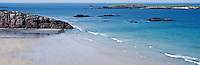 Clear waters of the isolated Traigh Allt Chailgeag beach near Durness in the Far North-West of Scotland