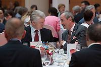 "25 MAY 2012, BERLIN/GERMANY:<br /> Heinrich Hiesinger (L), Vorstandsvorsitzender ThyssenKrupp AG,  Philip Murphy (R), Botschafter der U.S.A. in Deutschland, Gala Dinner, Global Business Dialogue ""Beyond Uncertain Times: A Growth Agenda"", axica Konferenzzentrum<br /> IMAGE: 20120525-02-115"