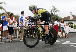 July 28, 2018 - Espelette, France - ESPELETTE, FRANCE - JULY 28 :  HEPBURN Michael of Mitchelton-Scott during stage 20 of the 105th edition of the 2018 Tour de France cycling race, an individual time-trial stage of 31 kms between Saint-Pee-sur-Nivelle and Espelette on July 28, 2018 in Espelette, France, 28/07/2018  (Credit Image: © Panoramic via ZUMA Press)