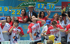 Nathan's Famous Fourth of July International Hot Dog Eating Contest - 03 July 2018