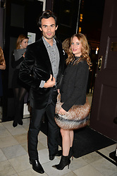 MARK FRANCIS VANDELLI and ROSIE FORTESCUE at the Tatler Little Black Book Party held at Home House Private Member's Club, Portman Square, London supported by CARAT on 6th November 2014.