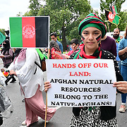 Marble arch, London, UK. 2021-08-28. Hundreds of Afghanis mostly young people protest to Stop Killing Afghans march in London shout for peace end the proxy war in Afghanistan. Americans has betray Afghanistan.