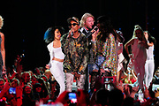 NASHVILLE, TN - JUNE 08: Musician Pharrell Williams performs onstage during the 2016 CMT Music awards at the Bridgestone Arena on June 8, 2016 in Nashville, Tennessee