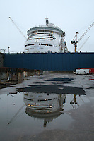 Independence of the Seas being built at Aker Yards, Turku, Finland.
