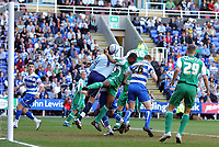 © Andrew Fosker / Richard Lane Photography 2010 -  Reading's Alex Pearce (26)  stoops to flick a header beyond Peterborough keeper Joe Lewis to put the home side 1 - 0 up - Reading v Peterborough - Coca-Cola Championship - 17/04/2010 - Madejski Stadium - Reading - UK.