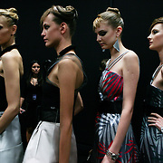 Milan, Italy, September 25, 2010. Backstage at Emporio Armani during the Milan Women's Fashion Week Spring/Summer 2011.
