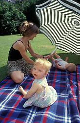 Mother & twin babies UK