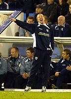Photograph: Scott Heavey.<br /> West Bromwich Albion v Walsall. Nationwide Division One. 09/01/2004.<br /> The ever animated Gary Megson barks orders