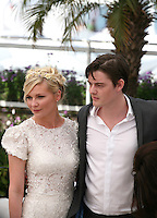 Kirsten Dunst, Sam Riley, at the On The Road photocall at the 65th Cannes Film Festival France. The film is based on the book of the same name by beat writer Jack Kerouak and directed by Walter Salles. Wednesday 23rd May 2012 in Cannes Film Festival, France.