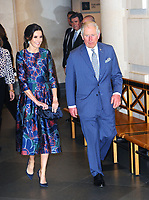 Her Majesty Queen Letizia, of Spain and Prince Charles the opening of Sorolla: Spanish Master of Light at the National Gallery