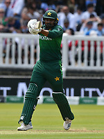 Cricket - 2019 ICC Cricket World Cup - Group Stage: Pakistan vs. Bangladesh<br /> <br /> Haris Sohail hits out<br /> at Lord's<br /> <br />  colorsport/winston bynorth