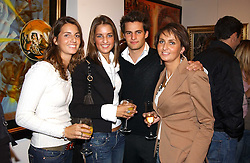 Left to right, MARINE STERNICK, TIPHANIE STERNICK, DEREK STERNICK and KRISTELL STERNICK at the opening of the Opera Gallery in London, 134 New Bond Street, London W1 on 29th September 2005.<br /><br />NON EXCLUSIVE - WORLD RIGHTS