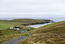 Skaw is a tiny settlement on the Shetland island of Unst. It is located north of Haroldswick on a peninsula in the northeast corner of the island, and is the most northerly settlement in the United Kingdom.