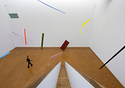 Art installation by Joel Shapiro at  of Museum Ludwig in Cologne Germany