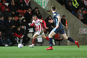 Kevin Dawson   during the EFL Sky Bet League 2 match between Cheltenham Town and Bury at LCI Rail Stadium, Cheltenham, England on 5 March 2019.