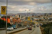 A general overview of the Prishtina capital entry from southern Kosova the Veternik junction Feb 2, 2009. (Photo/ Vudi Xhymshiti)