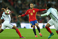 Thiago of Spain © gets in a shot.  England v Spain, Football international friendly at Wembley Stadium in London on Tuesday 15th November 2016.<br /> pic by John Patrick Fletcher, Andrew Orchard sports photography.