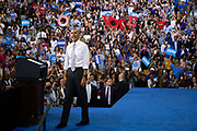 President Barack Obama encourages early voting at a campaign rally for Democratic presidential candidate Hillary Clinton at the University of Central Florida in Orlando, Florida, U.S., October 28, 2016.